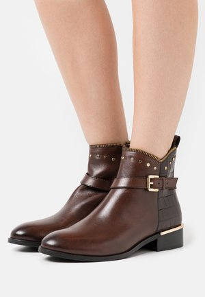 PAULINE - Classic ankle boots - dark brown