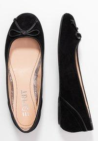Esprit - ALYA LEA BOW - Ballet pumps - black - 3