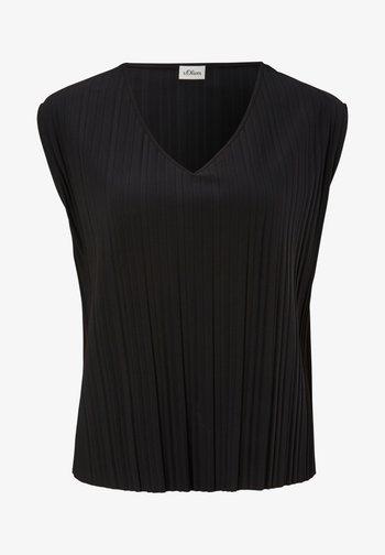 PLISSEE - Basic T-shirt - true black