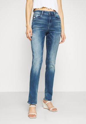 NOXER HIGH STRAIGHT WMN - Straight leg jeans - faded azurite
