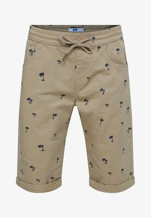 Shorts - mottled olive
