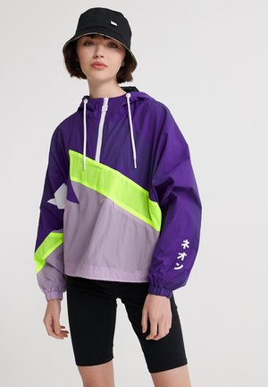 SUPERDRY URBAN SPLICED OVERHEAD JACKET - Windbreaker - purple opulence