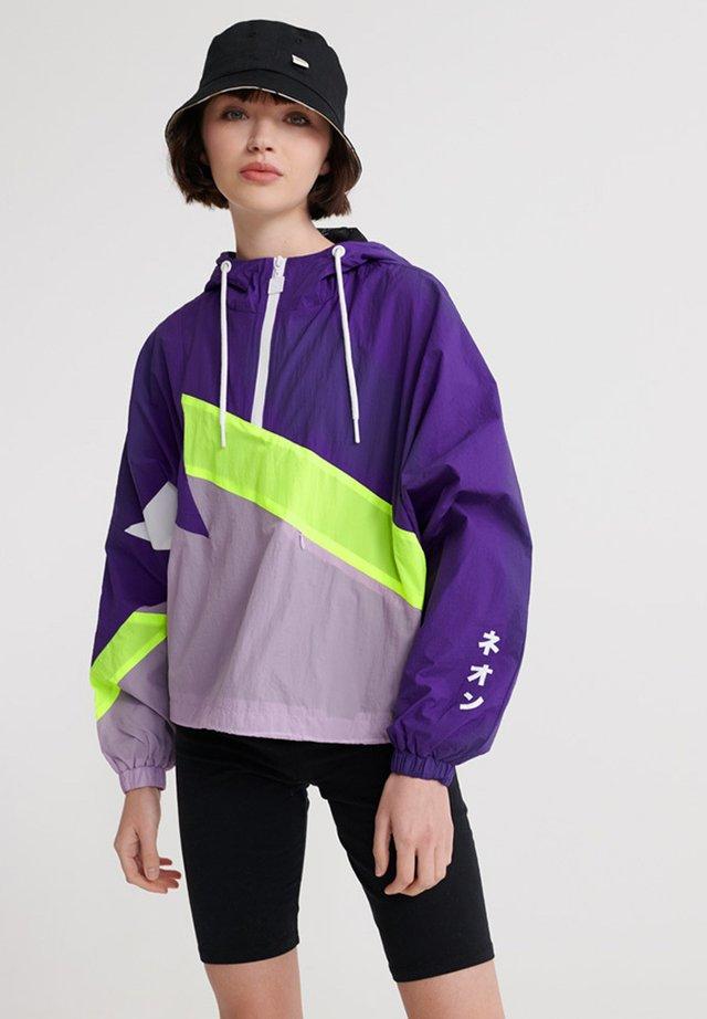 SUPERDRY URBAN SPLICED OVERHEAD JACKET - Windbreaker - purple opulence