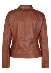 7eleven - Leather jacket - cognac - 5