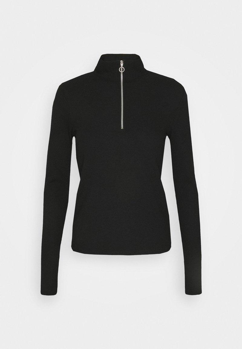 KENDALL + KYLIE TURTLENECK ZIP UP - Langarmshirt - black/schwarz g28aj3
