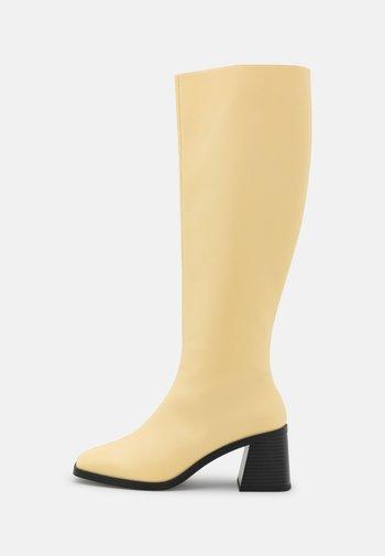POLLY BOOT VEGAN - Stivali alti - yellow medium dusty