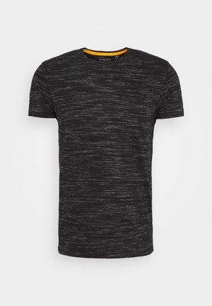ALBERTO - Print T-shirt - jet black/ecru