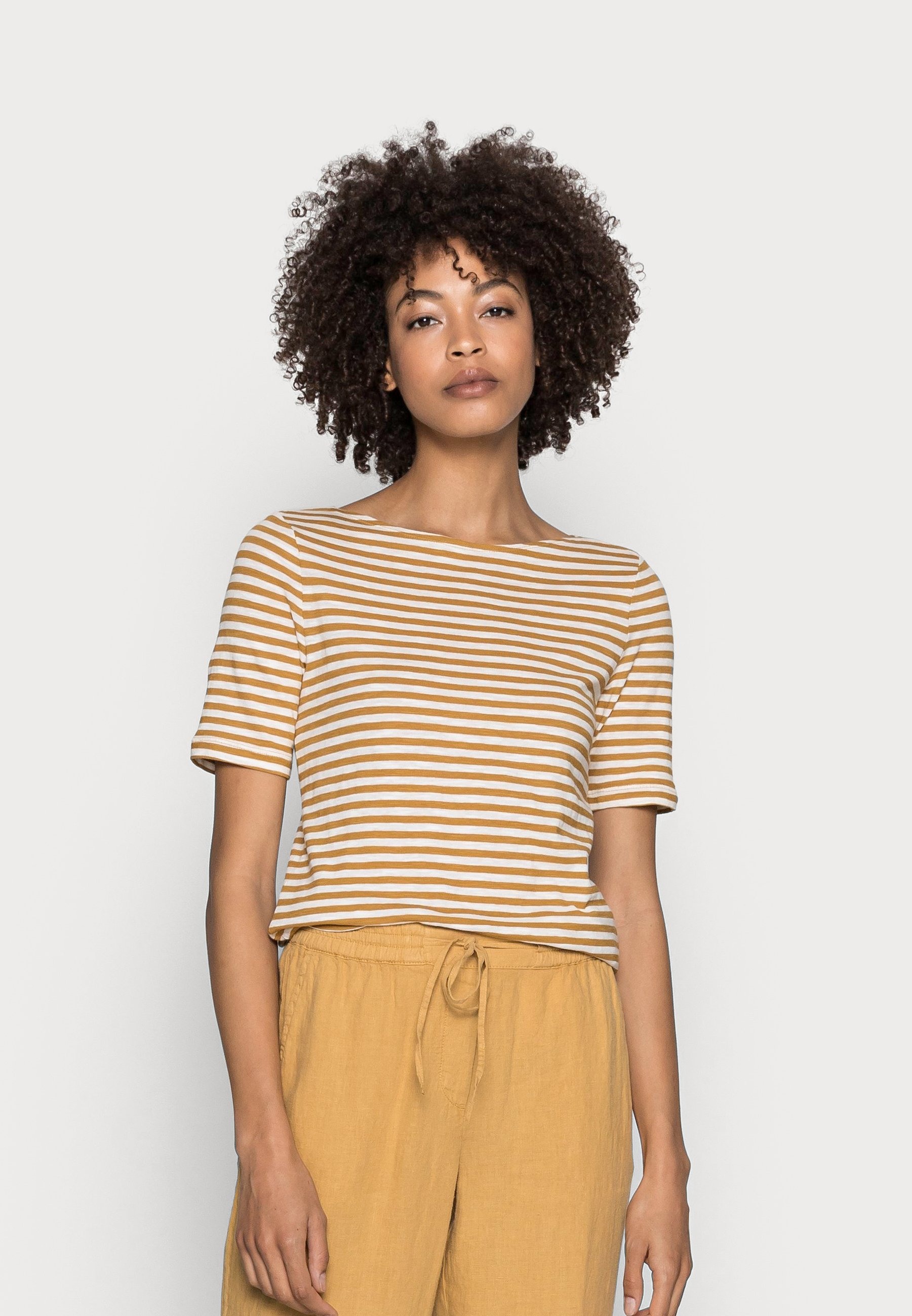Women SHORT SLEEVE BOAT NECK - Print T-shirt