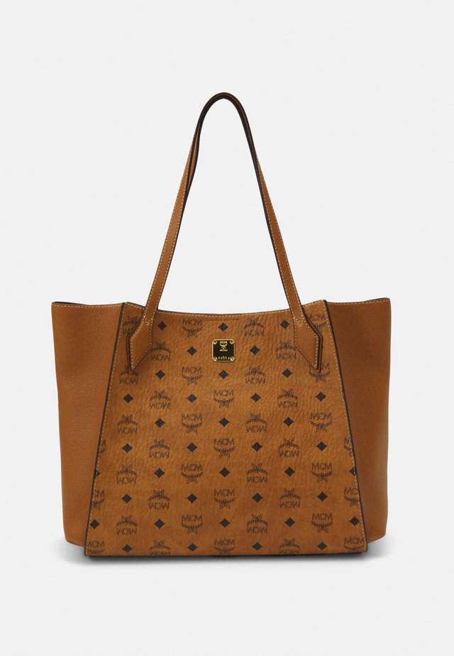 LUISA VISETOS BLOCK - Bolso shopping - cognac