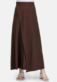 HELMIDGE - Maxi skirt - braun - 0