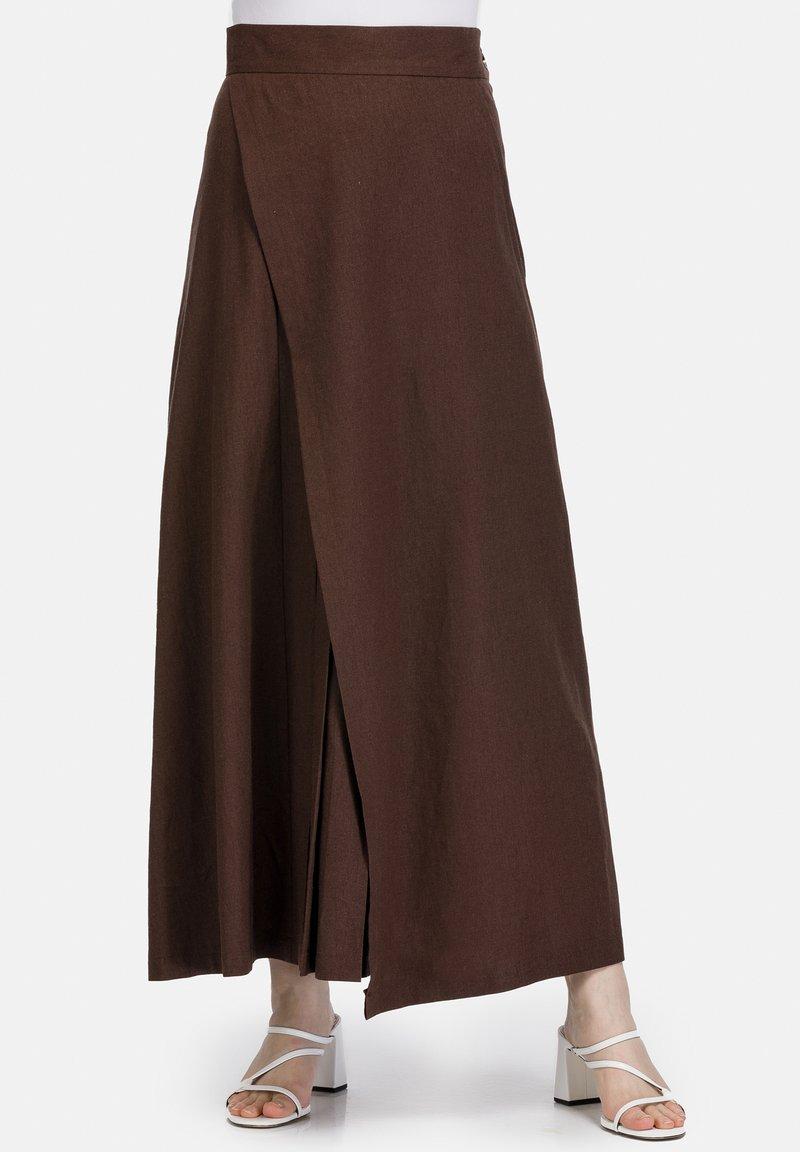 HELMIDGE - Maxi skirt - braun