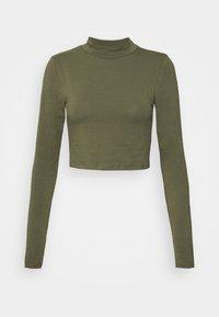 NMLEONORA HIGH NECK  - Long sleeved top - kalamata