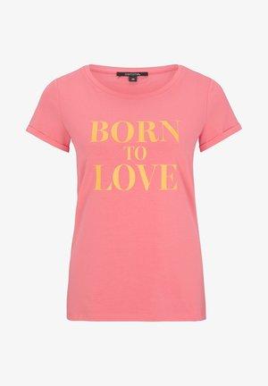 MIT STATEMENT-WORDING - Print T-shirt - pink love print