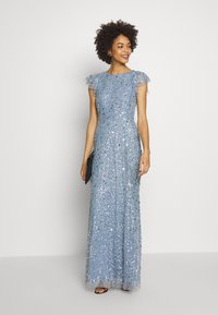 Maya Deluxe - DIP BACK ALL OVER SEQUIN MAXI DRESS - Suknia balowa - dusty blue