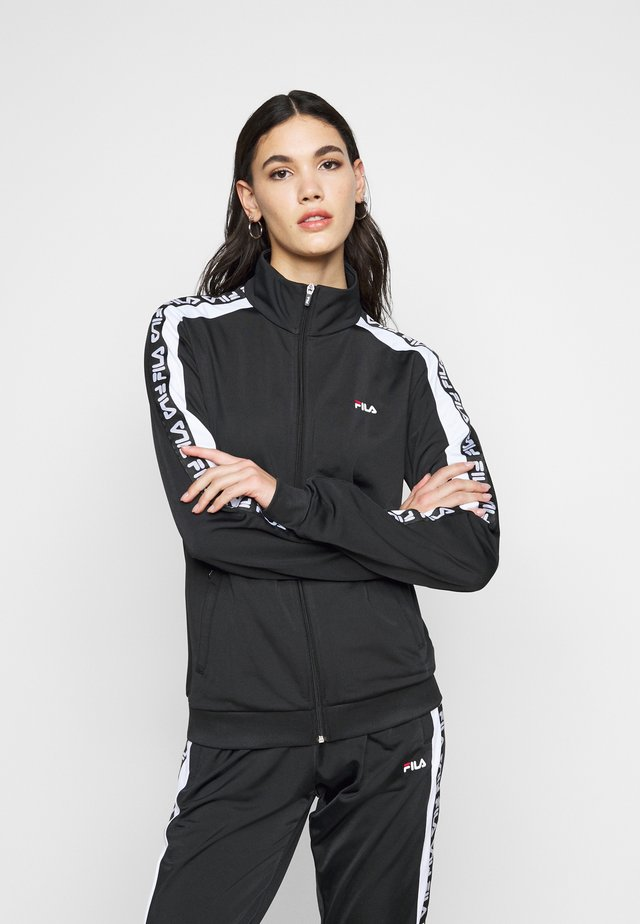 TAO TRACK JACKET - Verryttelytakki - black/bright white