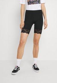 Gina Tricot - BASIC BIKER LACE 2 PACK - Shorts - black - 1