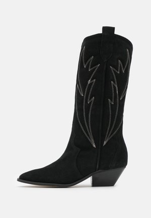 WANNA KNOW U - Cowboy/Biker boots - black