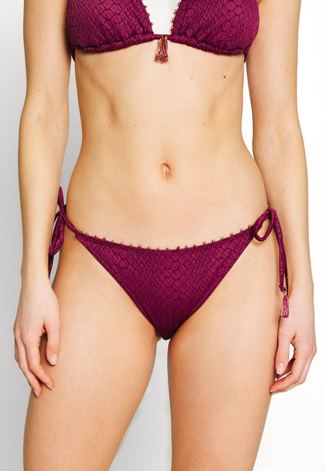 SIDE STRING BRASILIEN BRIEF - Bas de bikini - aubergine