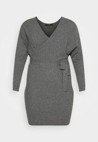 VMREM DRESS CURVE - Pletené šaty - medium grey melange