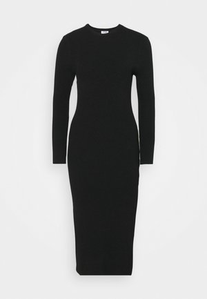 ELLA LONG SLEEVE SPLIT DRESS - Jumper dress - black