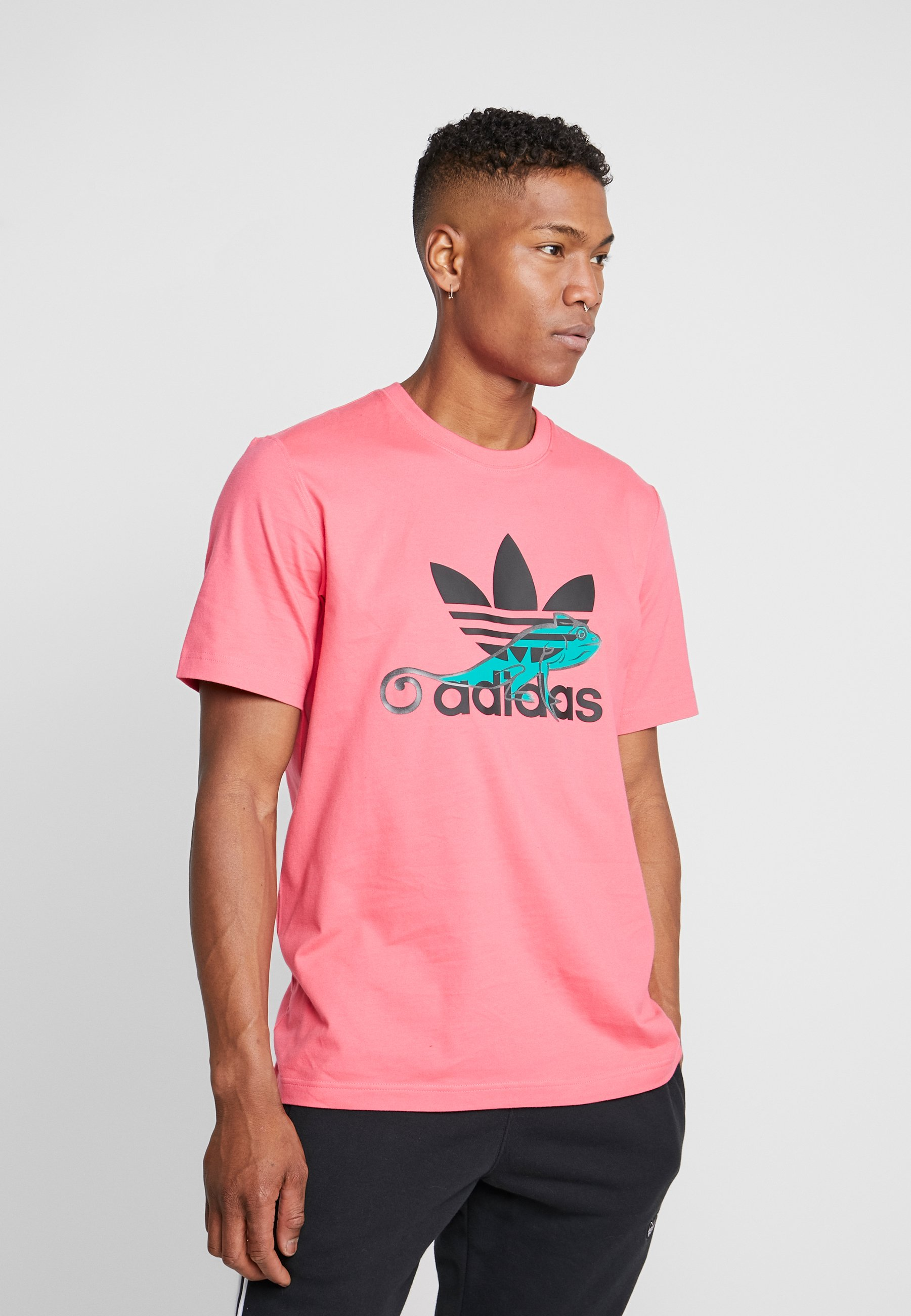 adidas Originals LOGO PROJECT-3 SHORT SLEEVE TEE - Print T-shirt - pink LkBbi
