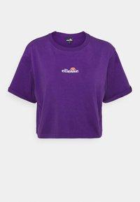 NANCIE - Print T-shirt - dark purple