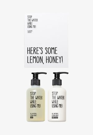 ALL NATURAL HAND KIT SOAP 200ML & HANDBALM 200ML - Kit bagno e corpo - lemon honey