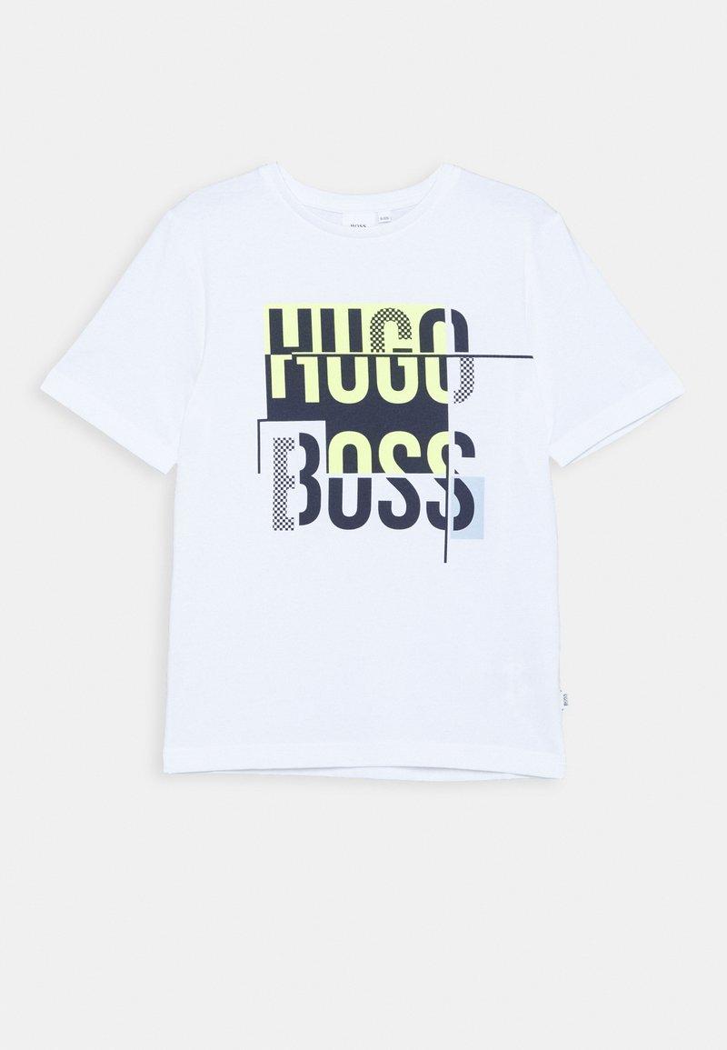 BOSS Kidswear - SHORT SLEEVES TEE - T-shirt imprimé - white