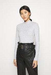 Anna Field - 2 PACK - T-shirt à manches longues - black/mottled light grey - 3