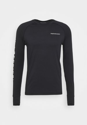 SPIRIT CREW - Long sleeved top - black
