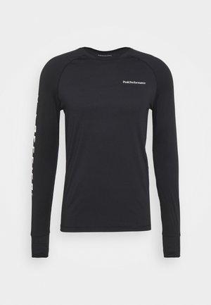 SPIRIT CREW - Maglietta a manica lunga - black