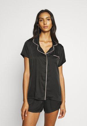 ABIGAIL SHIRT AND SHORT - Pyjamas - black/pale pink