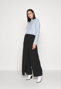 UNIQUE 21 - WRAP FRONT TROUSER - Trousers - black - 1