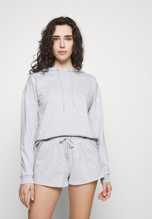 Hooded short set - Pyžamová sada - light grey