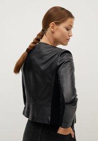 Mango - FELIPAR - Leather jacket - schwarz - 2