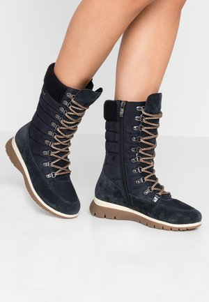 Lace-up boots - ocean