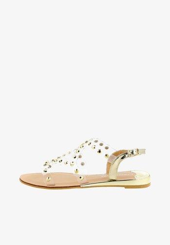 MISURINA - T-bar sandals - platynowy