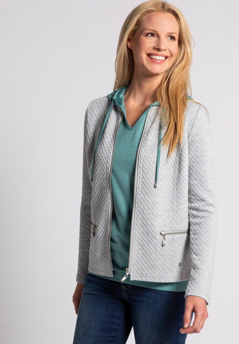 GINA LAURA - Zip-up hoodie - hellgrau-melange