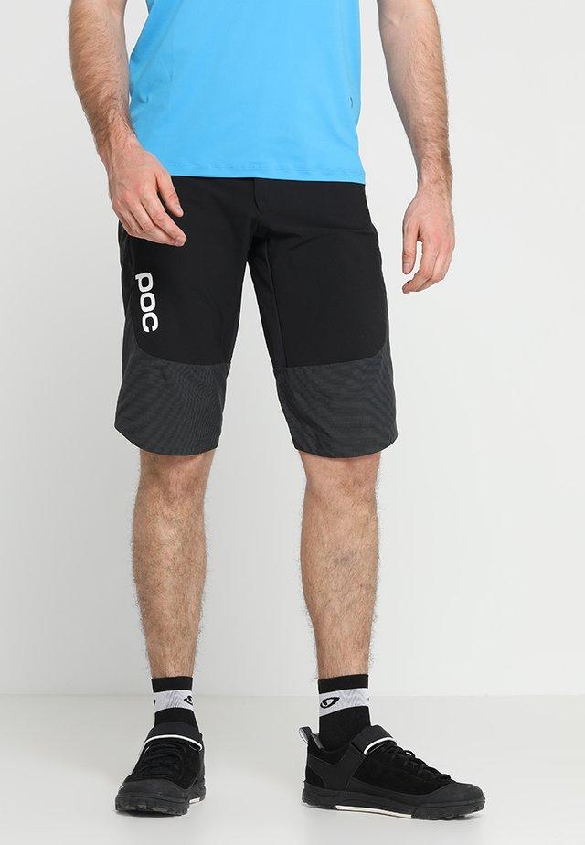 RESISTANCE ENDURO SHORTS - Pantalón corto de deporte - uranium black