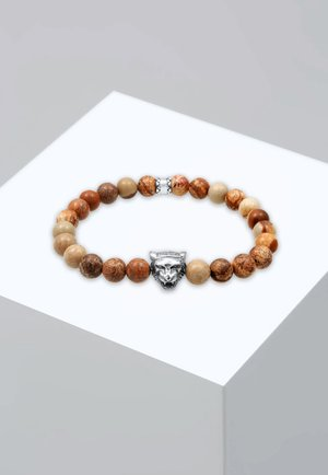 TIGER BEADS - Bracelet - braun