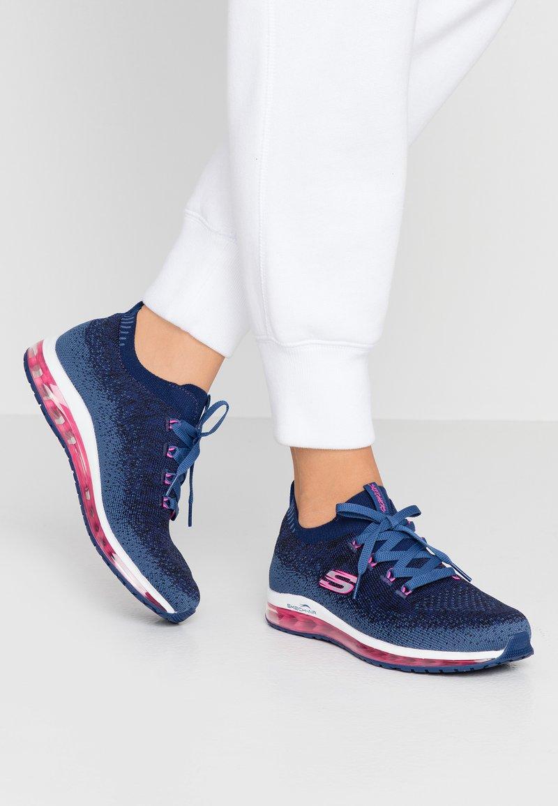 Skechers Sport - SKECH-AIR ELEMENT - Sneaker low - navy/hot pink