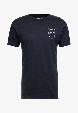 WITH OWL CHEST LOGO  - T-shirt con stampa - total eclipse