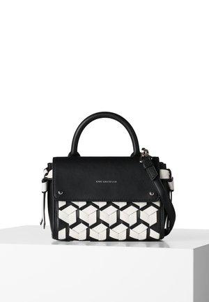Across body bag - black/ white