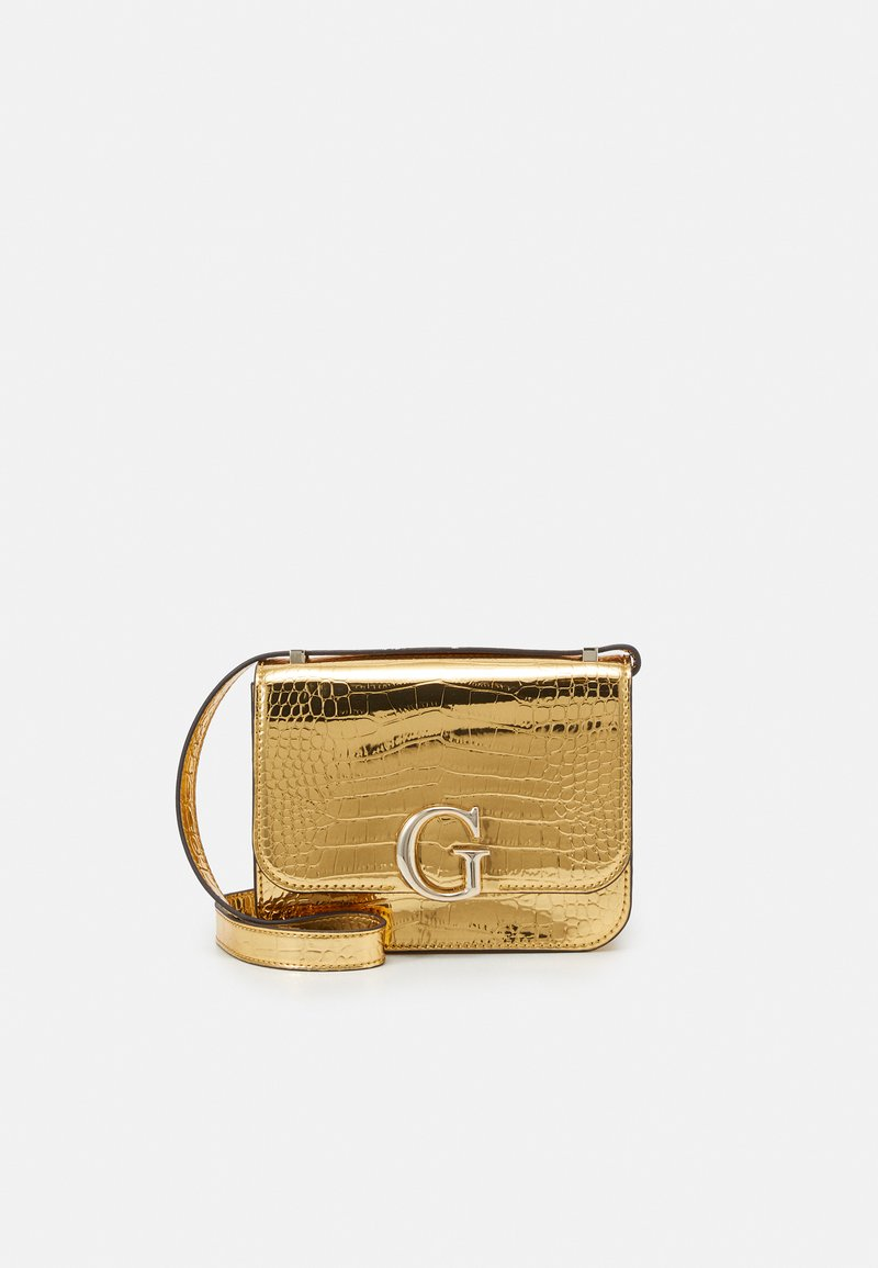 Guess - CORILY CONVERTIBLE XBODY FLAP - Across body bag - gold-coloured