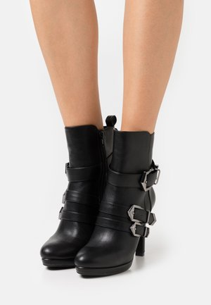 QUIRINA - High heeled ankle boots - black