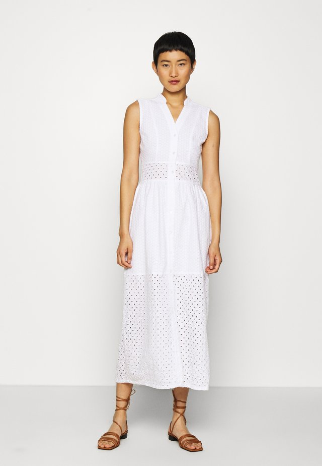 BROIDERY ANGLAIS MIX DRESS - Shirt dress - white