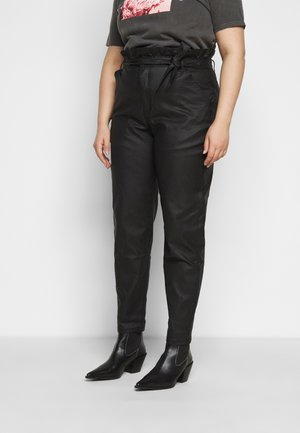 PAPERBAG WAIST - Trousers - black