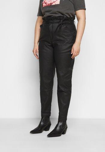 PAPERBAG WAIST - Trousers - black