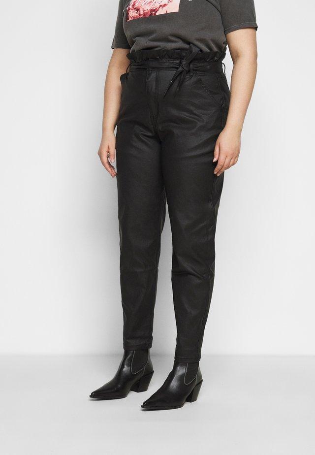 PAPERBAG WAIST - Pantalon classique - black