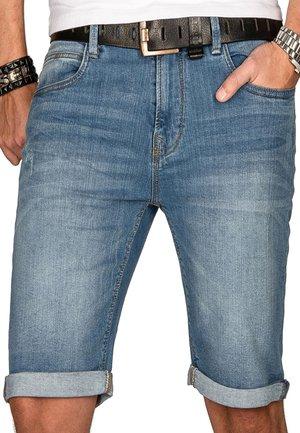 INDICODE  - Denim shorts - hellblau